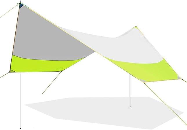 QLJJ Tienda de campaña Lona Refugio Al Aire Libre Tienda del pabellón Playa Campamento Canopy Pergola de Gran tamaño Plegable a Prueba de Lluvia Balcón Toldo Toldo para Acampar al Aire Libre: