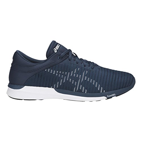 Asics Mens FuzeX Rush Adapt Shoes Dark Blue/White/Smoke Blue websites cheap price clearance get authentic clearance footlocker pictures wholesale price HDqrIIJju