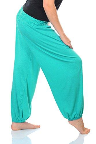 Yoga Pant para mujer pantalones de harén 19 colores Pluderhose cómodo talla única S - XXL lichtgrün