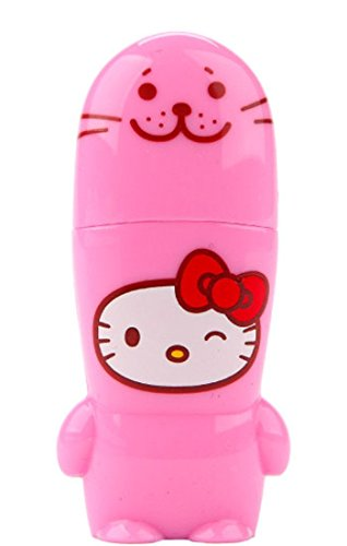 8GB Pink Seal Hello Kitty Loves Animals x MIMOBOT Designer USB Flash Drive with bonus preloaded Mimory content, Limited Edition by Mimoco ()