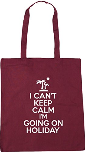 calm Bag Burgundy Shopping i'm Tote I can't litres Gym Beach keep 10 x38cm 42cm holiday going HippoWarehouse on 7CTwqtq