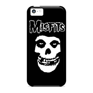 MMZ DIY PHONE CASEScratch Protection Hard Phone Cases For ipod touch 5 With Provide Private Custom HD The Misfits Skull Logo Skin JacquieWasylnuk