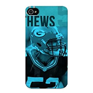 Hard Plastic Iphone 4/4s Case Back Cover, Hot Clay Matthews Background Hd Case For Christmas's Perfect Gift
