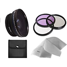 Sony Cyber-shot DSC-RX100 IV 0.5X High Definition Super Wide Angle Lens w/ Macro (Includes Necessary Lens/Filter Adapters) + 52mm 3 Piece Filter Kit + Nw Direct Micro Fiber Cleaning Cloth