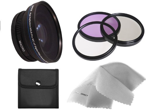 Sony Cyber-shot DSC-RX100 III 0.5X High Definition Super Wide Angle Lens w/ Macro (Includes Necessary Lens/Filter Adapters) + 52mm 3 Piece Filter Kit + Nw Direct Micro Fiber Cleaning Cloth