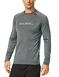 Baleaf Men's Long Sleeve Surf Shirt Rashguard Swim Tee UPF 50+