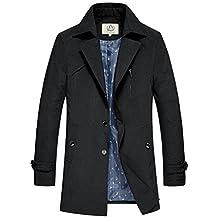 E-artist Men's Trench Coat Long Overcoats F17
