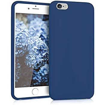 kwmobile TPU Silicone Case for Apple iPhone 6 Plus / 6S Plus - Soft Flexible Shock Absorbent Protective Phone Cover - Navy Blue