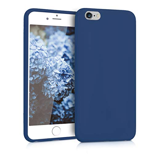 e Case for Apple iPhone 6 Plus / 6S Plus - Soft Flexible Shock Absorbent Protective Phone Cover - Navy Blue ()