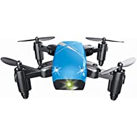 ZZSYU S9 Altitude Hold 0.3MP HD Camera 6-Axis Foldable WIFI RC Quadcopter Pocket Drone (Blue)