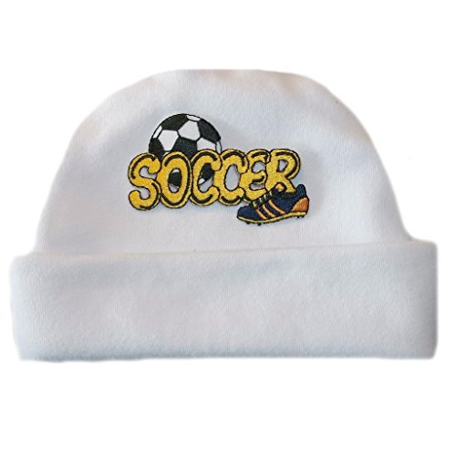 cheap Jacqui's Baby Boys' White Soccer Hat save more