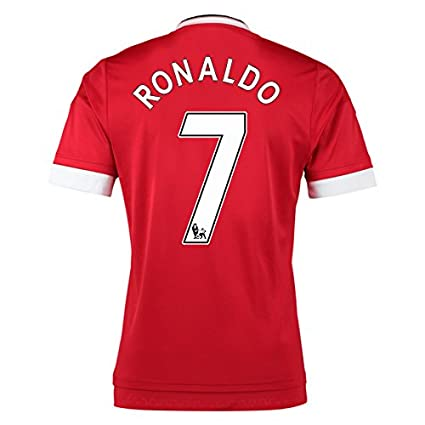 purchase cheap ff476 e0d2b Amazon.com : 2015-16 Man United Home Football Soccer T-Shirt ...