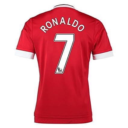 purchase cheap 14008 1a99c Amazon.com : 2015-16 Man United Home Football Soccer T-Shirt ...