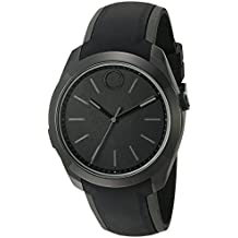 Movado Swiss Quartz Stainless Steel and Silicone Casual Watch, Color:Black (Model: 3660002)