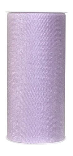 Ribbon Bazaar Gala Sparkle Tulle 6 inch Lilac 25 Yards 100% Polyester Ribbon]()