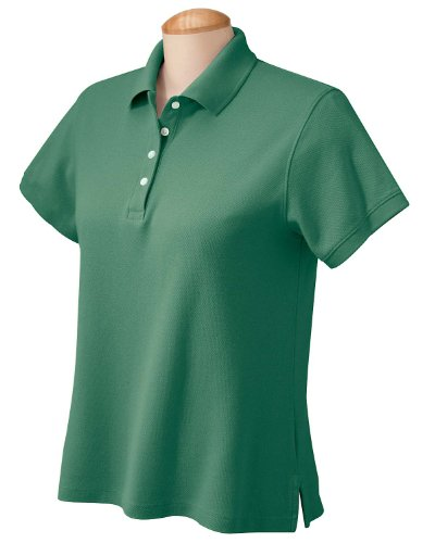 Chestnut Hill Ladies' Performance Plus Pique Polo, Pine, 3XL Pine Green Apparel