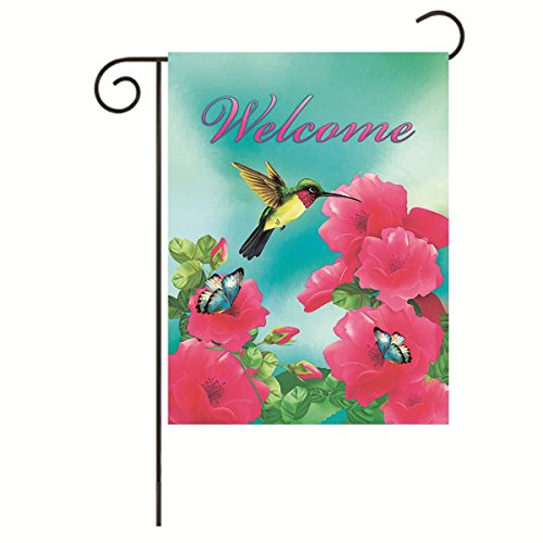 JoyPlus Welcome hummingbird Butterfly Bird& Flower Garden Fl