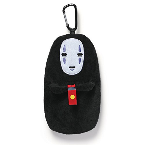 GUND Spirited Away No Face Stuffed Plush Backpack Clip Pouch, 8