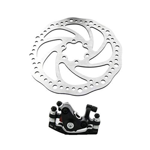 Lykke.. Bike Disk Brake Kit Universal Adjustable Aluminum Alloy 160mm Bike Equipment for Mountain Bike BMX Road Bike MTB - Front (Lock Center 160 Mm)