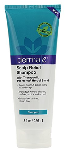 derma e Scalp Relief Shampoo with Psorzema Herbal Blend, 8 Fluid Ounce