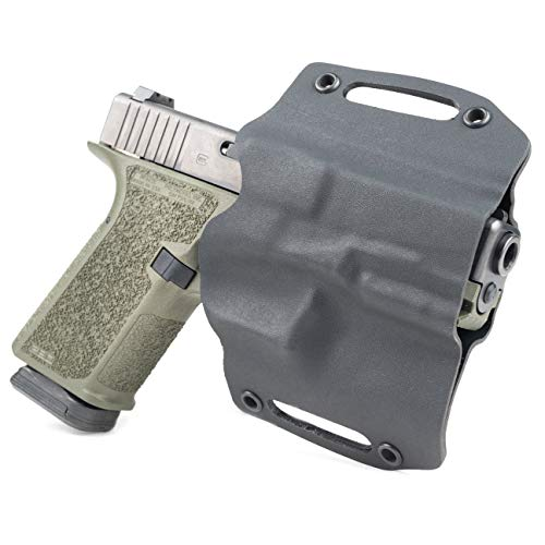 Infused Kydex USA: Black OWB Holsters with Built in Belt Loops for More Than 150 Different Handguns. Left & Right Versions Available.