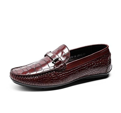 Hombre Mocasines On on Slip Loafers Rojo Slip Casual Zapatos xqSPYE7w