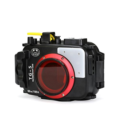 Seafrogs Waterproof case for Olympus TG-5, with Dome Port and Full Color Red Filter Kit, Underwater Camera Housing Case/ 60m/195ft, Apply to take Half Above Water Half Underwater Video/Pictures-Black by HolaFoto (Image #3)