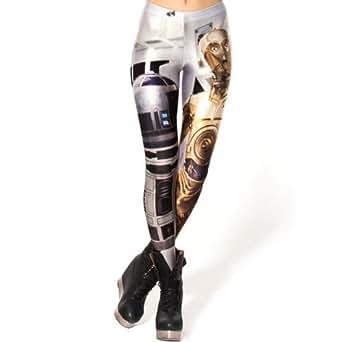Ninimour- Digital Print Leggings (AMS069) (white)