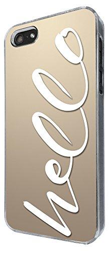 303 - Shabby Chic Hello Design iphone 5 5S Coque Fashion Trend Case Coque Protection Cover plastique et métal