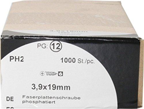 Faserplattenschrauben phosphatiert 3,9x19mm HW1000
