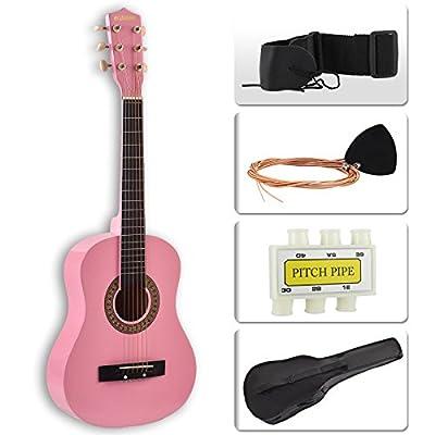 LAGRIMA Beginners Acoustic Guitar w/Guitar Case, Strap, Tuner & Pick Steel Strings
