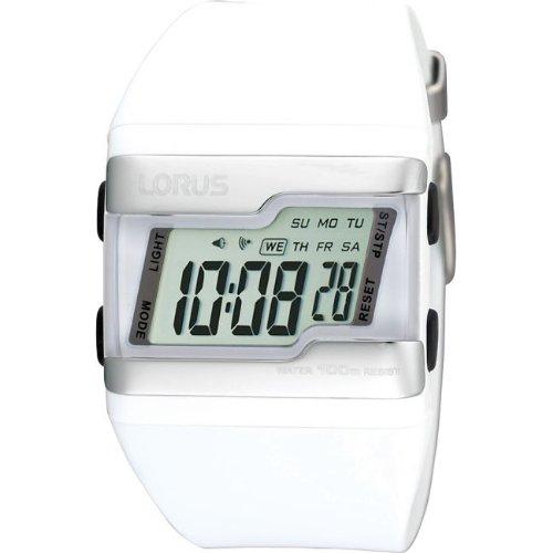 Lorus R2385EX9 - Reloj digital de cuarzo para mujer, correa de poliuretano color blanco: Amazon.es: Relojes