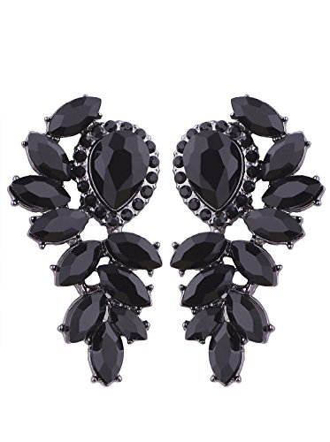Vijiv Women's 1920s Gatsby Earrings Dangle Deco Jewelry for Party Wedding Prom ()