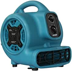 XPOWER P-230AT 1/5 HP 800 CFM 3 Speeds Mini Air Mover with 3-Hour Timer and Built-In...