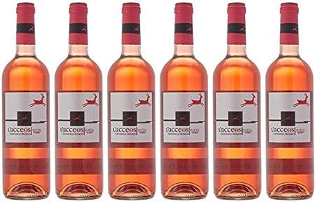 Vacceos Rosado Tempranillo - D.O Rueda - 6 Botellas de 750 ml (Total 4.5 L)