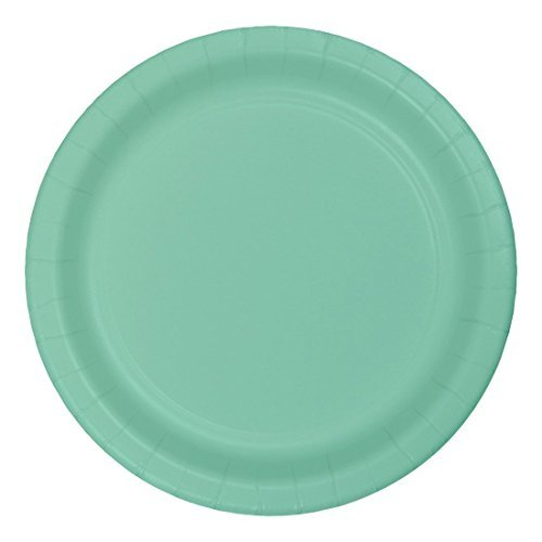 Creative Converting 318894 72 Count Paper Lunch Plate, 7, Fresh Mint (Value Pack) - Pack Fresh Mint
