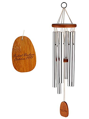 GiftTree Amazing Grace Engravable Wind Chimes by Customizable Memorial, Sympathy Gift, or Keepsake Wind Chime by GiftTree