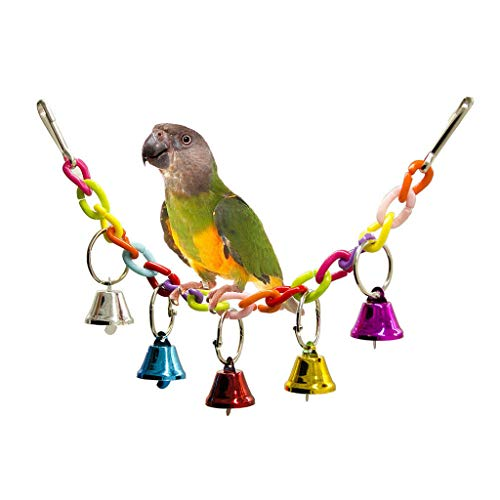 Agordo 2 Pcs Birds Cage Hanging Toys Bird Parrot Chewing Standing Toy ()