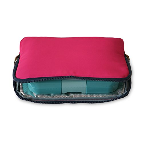 (YUMBOX Poche - Insulated Sleeve Lunch bag (Magenta); slim and compact, perfect for office and school lunches, to be carried inside a bag or)