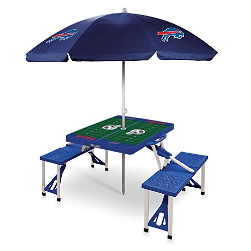 NFL Buffalo Bills Picnic Table Sport with Umbrella Digital Print, One Size, Blue by PICNIC TIME