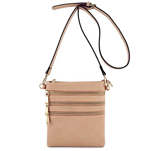 4 Travel Zipper Shoulder Basic Pink Crossbody Bag UEdq6KTw
