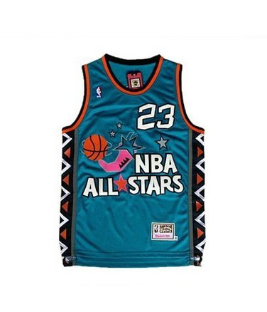 #23 1996 NBA All-Star Thowback Jersey + FREE GIFT (Green, S)