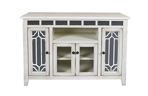 New Classic Furniture Gable Entertainment Unit, 48-Inch, Creme, Crème