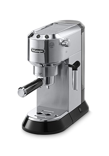 Grinder Deluxe Automatic Coffee - Delonghi EC680M DEDICA 15-Bar Pump Espresso Machine, Stainless Steel