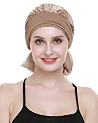 It should be the most relax time during sleep.So the headwear should be nature and warm .We use breathable,smooth and soft bamboo viscose to meet it.The fabric is soft like silk and smooth like milk.This hat cover the head very well.Actually ...