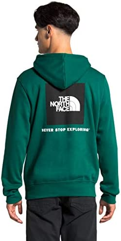 The North Face Men's Box NSE Pullover Hoodie, Evergreen, S