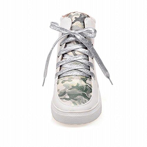 Plate-forme À Lacets Doodle Chic Latasa Femmes À Lintérieur Coin Froid Temps Chaussures Courtes Vert