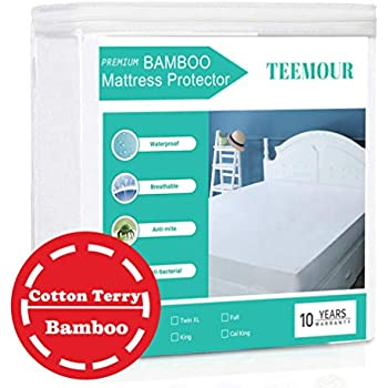 Queen Size Premium Bamboo Mattress Protector Cooling Mattress ProtectorHypoallergenic WaterproofMattress Protector Pad Mattress Cover Cotton Terry Surface Noiseless --Fitted 8