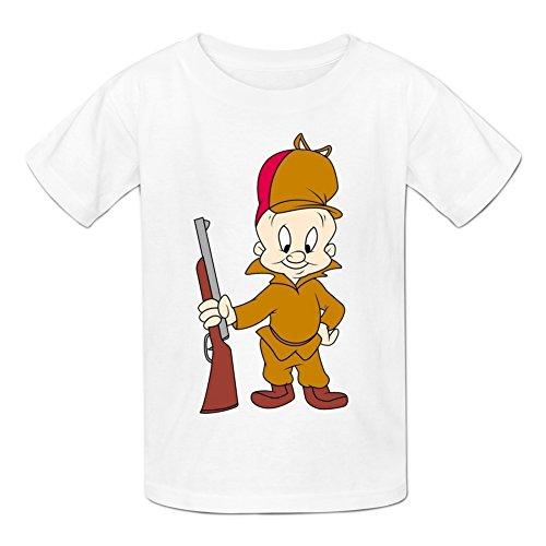 jeanforever-kids-boys-short-sleeve-printed-elmer-fudd-t-shirt-xl-white