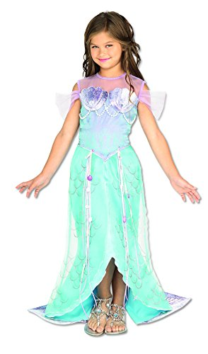 [Let's Pretend Child's Deluxe Mermaid Costume, Toddler] (Deluxe Dress Child Costumes)